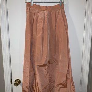 Vintage Paul Stuart blush pink silk like maxi